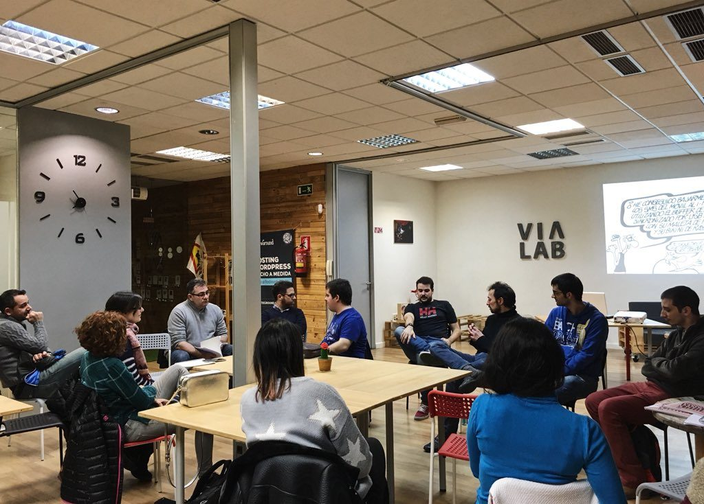 Meetup WordPress Valladolid home Via Lab